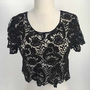 Cropped Lace T from Forever 21